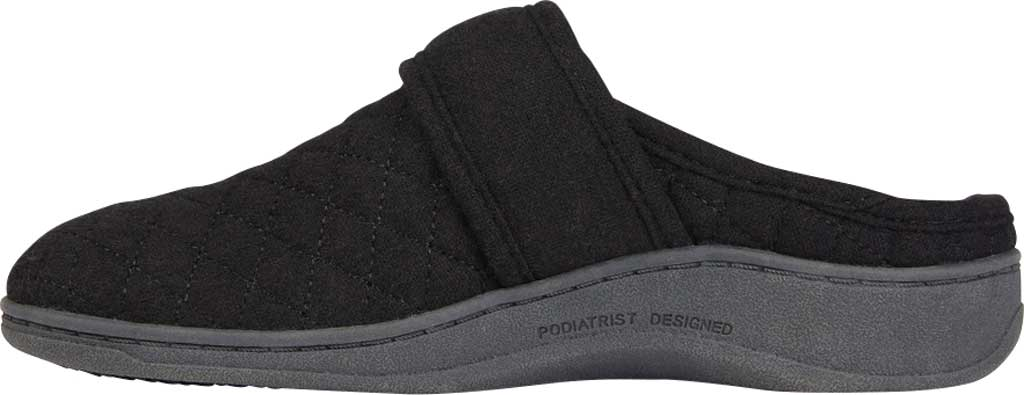 Women's Vionic Carlin Mule Slipper, Black Quilted Flannel, large, image 3