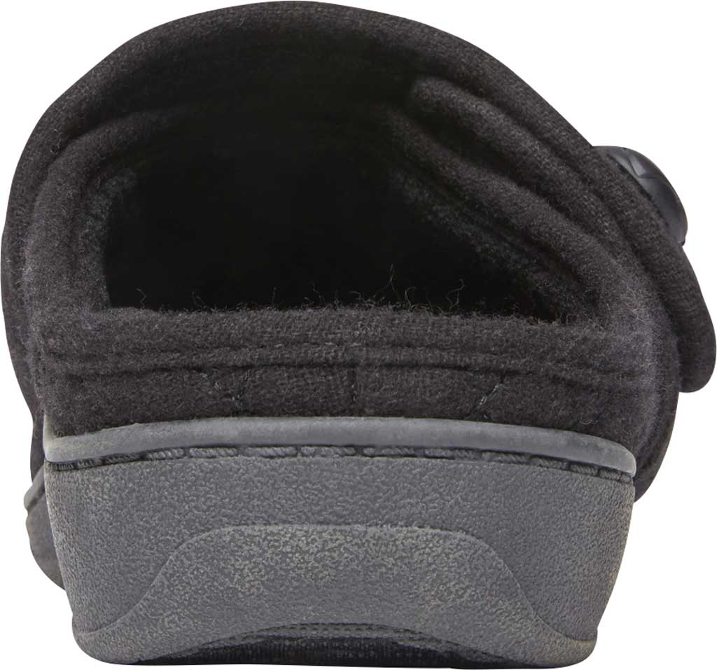 Women's Vionic Carlin Mule Slipper, Black Quilted Flannel, large, image 4