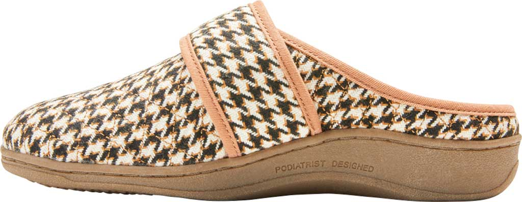 Women's Vionic Carlin Mule Slipper, Cream Houndstooth Quilted Fabric, large, image 3