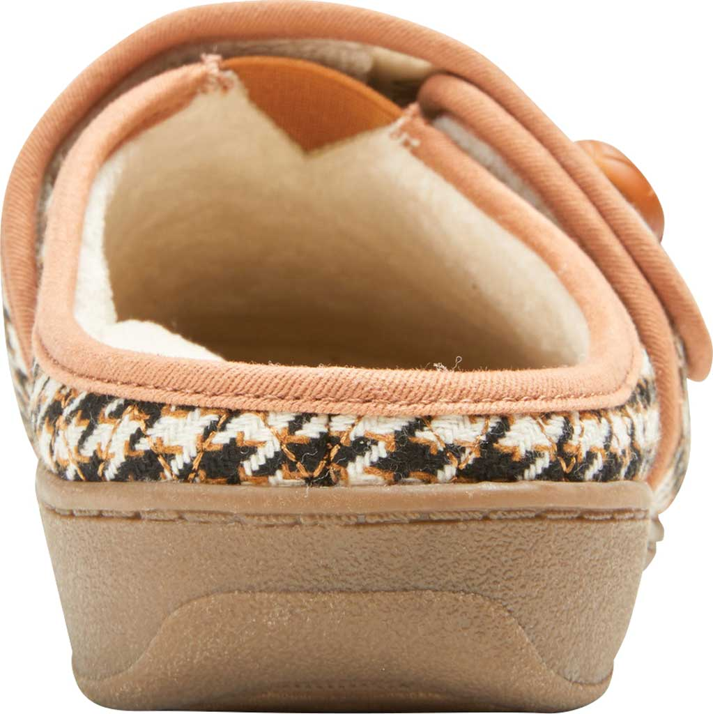 Women's Vionic Carlin Mule Slipper, Cream Houndstooth Quilted Fabric, large, image 4