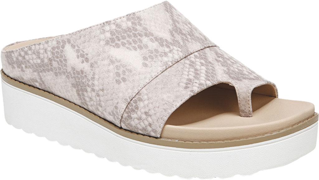 Women's Dr. Scholl's Morris Toe Loop Sandal, Sand Dollar Snake Fabric, large, image 1