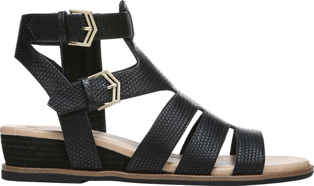 Women's Dr. Scholl's Friday Wedge Gladiator Sandal, Black Snake Faux Leather, large, image 2