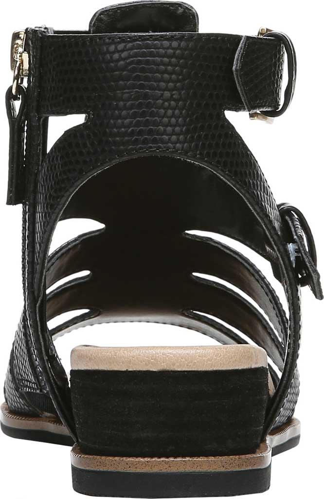 Women's Dr. Scholl's Friday Wedge Gladiator Sandal, Black Snake Faux Leather, large, image 4