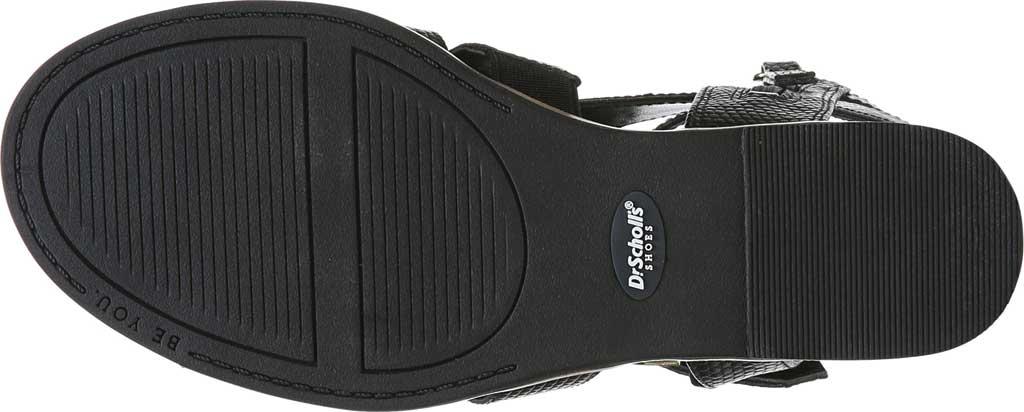 Women's Dr. Scholl's Friday Wedge Gladiator Sandal, Black Snake Faux Leather, large, image 6