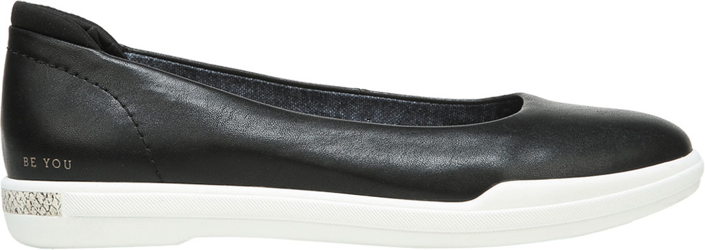 Women's Dr. Scholl's Rise Shine Ballet Flat, Black Smooth Faux Leather, large, image 2