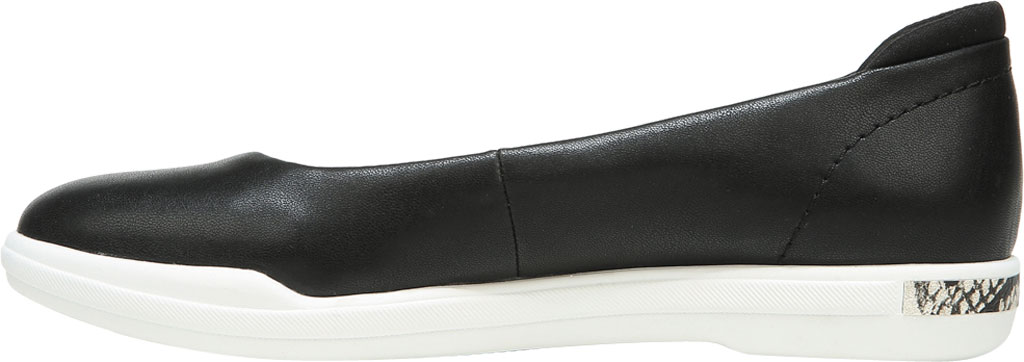 Women's Dr. Scholl's Rise Shine Ballet Flat, Black Smooth Faux Leather, large, image 3