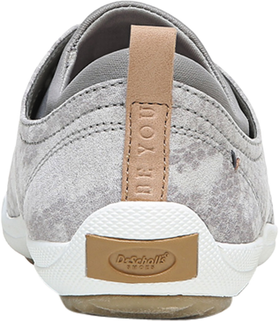 Women's Dr. Scholl's Jam Session Sneaker, Soft Grey Snake Fabric, large, image 4