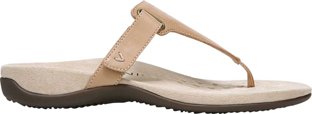 Women's Vionic Wanda T Strap Thong Sandal, Macaroon Smooth Leather, large, image 2