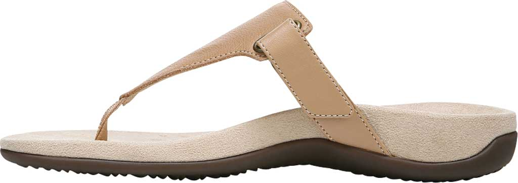 Women's Vionic Wanda T Strap Thong Sandal, Macaroon Smooth Leather, large, image 3