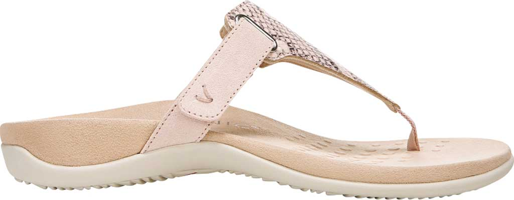 Women's Vionic Wanda T Strap Thong Sandal, Pale Blush Embossed Snake Leather, large, image 2