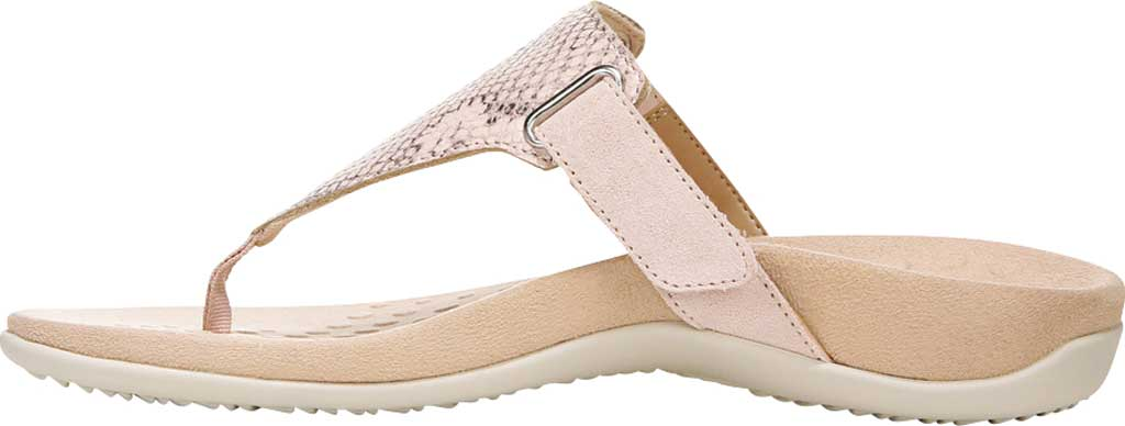 Women's Vionic Wanda T Strap Thong Sandal, Pale Blush Embossed Snake Leather, large, image 3