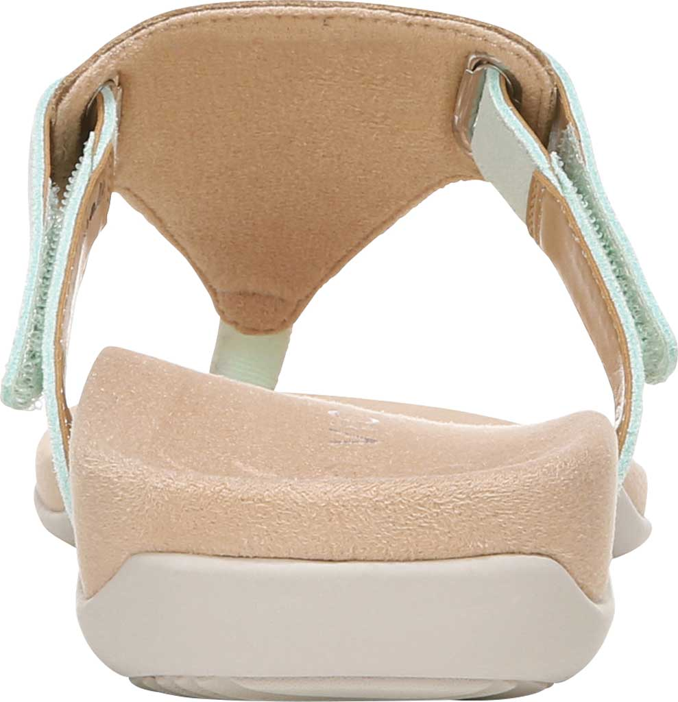 Women's Vionic Wanda T Strap Thong Sandal, Seafoam Embossed Snake Leather, large, image 4