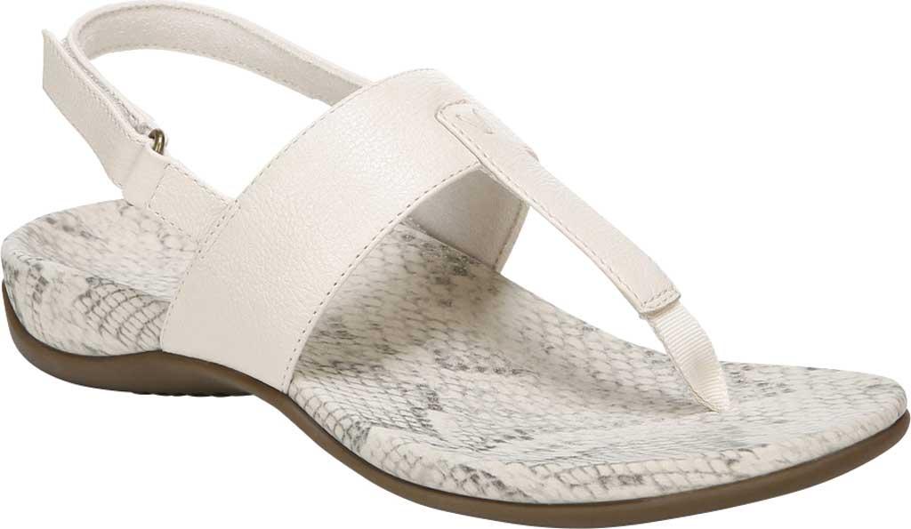 Women's Vionic Tala T Strap Thong Sandal, Cream Nappa Leather, large, image 1