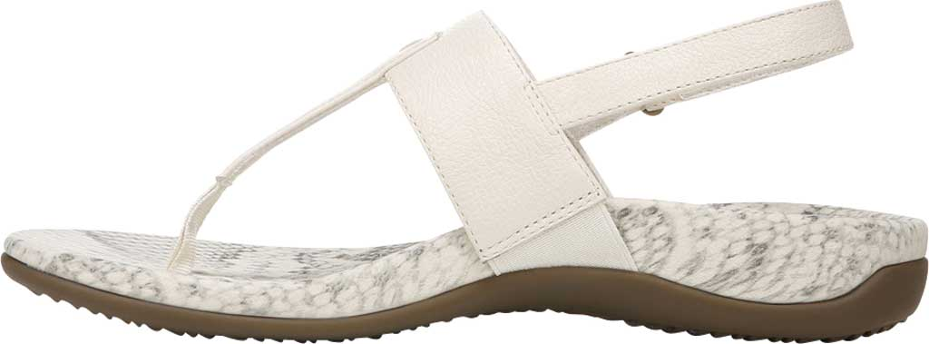 Women's Vionic Tala T Strap Thong Sandal, Cream Nappa Leather, large, image 3