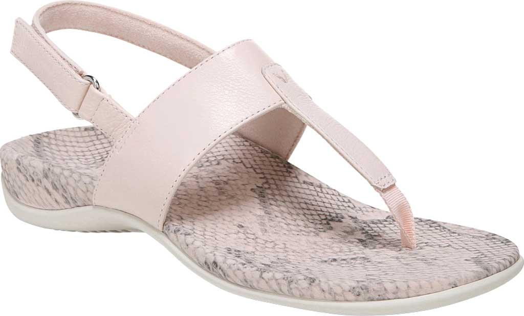 Women's Vionic Tala T Strap Thong Sandal, Pale Blush Nappa Leather, large, image 1
