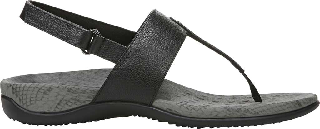 Women's Vionic Tala T Strap Thong Sandal, Black Nappa Leather, large, image 2