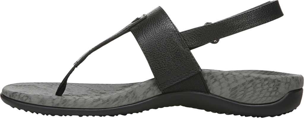 Women's Vionic Tala T Strap Thong Sandal, Black Nappa Leather, large, image 3