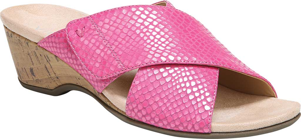 Women's Vionic Leticia Wedge Slide, Love Potion Lizard Print Leather, large, image 1