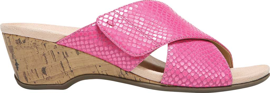 Women's Vionic Leticia Wedge Slide, Love Potion Lizard Print Leather, large, image 2