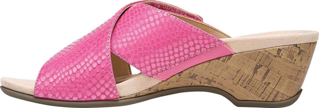 Women's Vionic Leticia Wedge Slide, Love Potion Lizard Print Leather, large, image 3