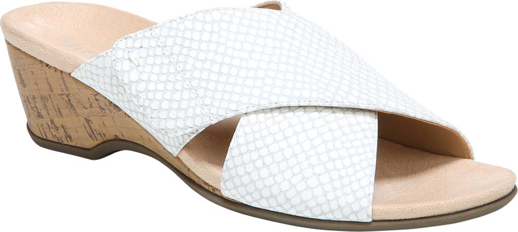 Women's Vionic Leticia Wedge Slide, White Lizard Print Leather, large, image 1