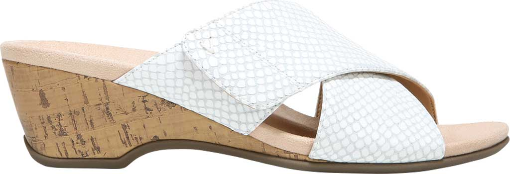 Women's Vionic Leticia Wedge Slide, White Lizard Print Leather, large, image 2