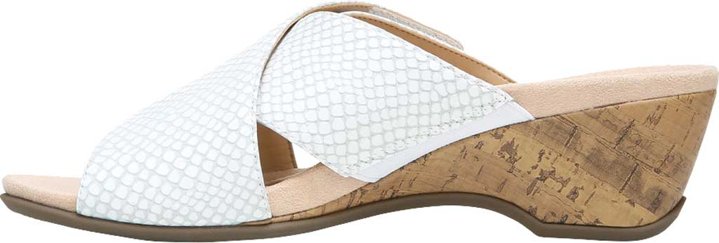 Women's Vionic Leticia Wedge Slide, White Lizard Print Leather, large, image 3