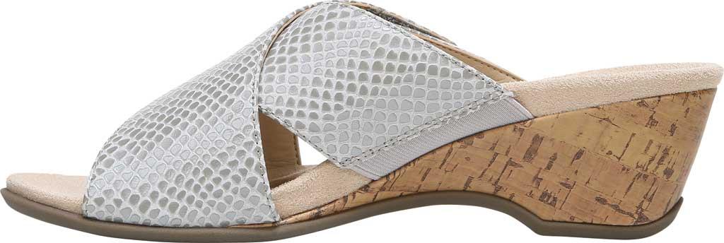 Women's Vionic Leticia Wedge Slide, Aluminum Lizard Print Leather, large, image 3