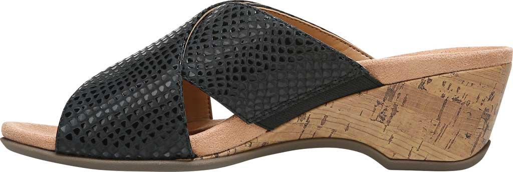 Women's Vionic Leticia Wedge Slide, Black Lizard Print Leather, large, image 3