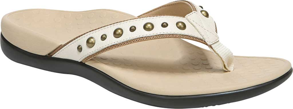 Women's Vionic Vanessa Thong Sandal, Cream Studded Leather, large, image 1