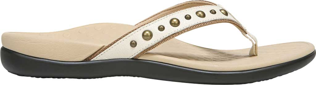 Women's Vionic Vanessa Thong Sandal, Cream Studded Leather, large, image 2