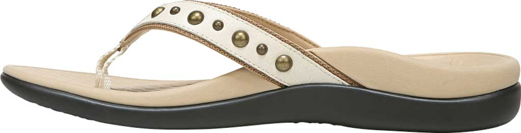 Women's Vionic Vanessa Thong Sandal, Cream Studded Leather, large, image 3