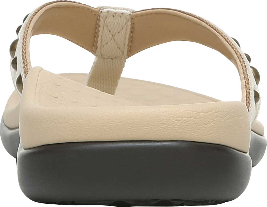 Women's Vionic Vanessa Thong Sandal, Cream Studded Leather, large, image 4