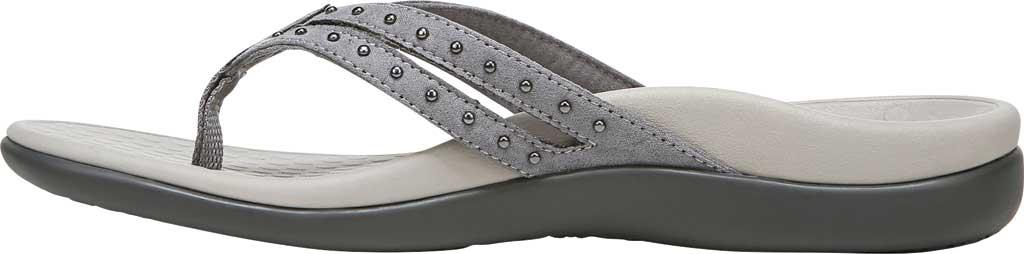 Women's Vionic Tasha Thong Sandal, Slate Grey Microfiber Fabric, large, image 3