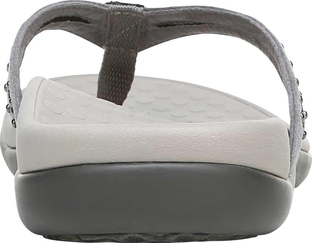 Women's Vionic Tasha Thong Sandal, Slate Grey Microfiber Fabric, large, image 4