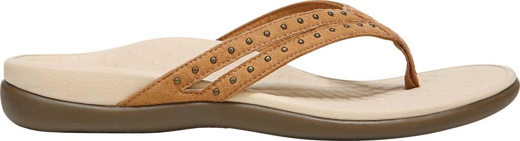 Women's Vionic Tasha Thong Sandal, Toffee Microfiber Fabric, large, image 2