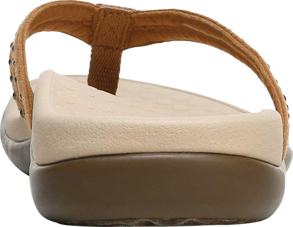 Women's Vionic Tasha Thong Sandal, Toffee Microfiber Fabric, large, image 4