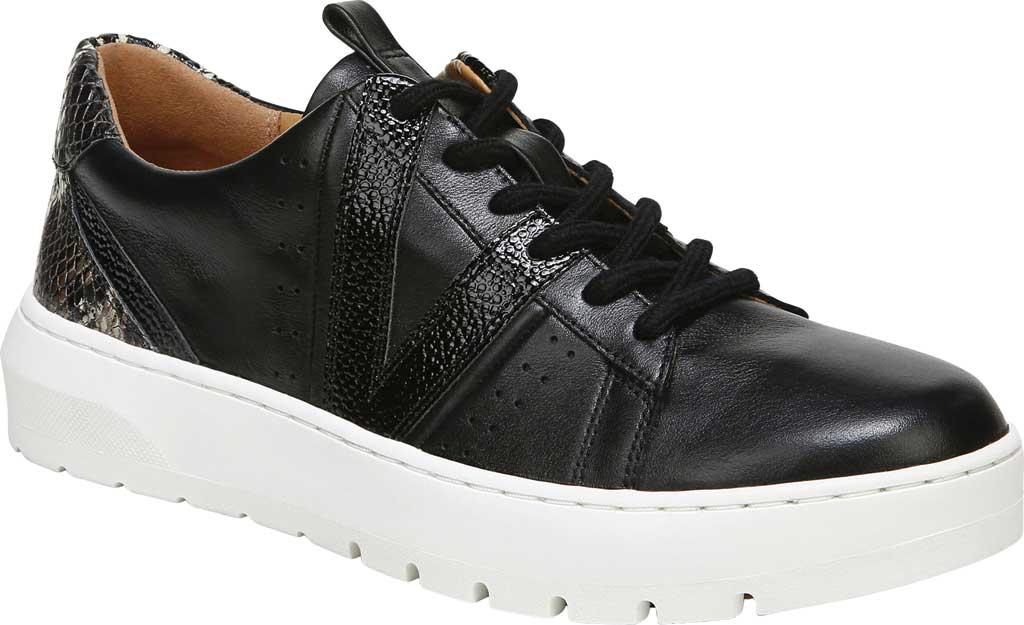 Women's Vionic Simasa Sneaker, Black Stingray Snake Print Leather, large, image 1
