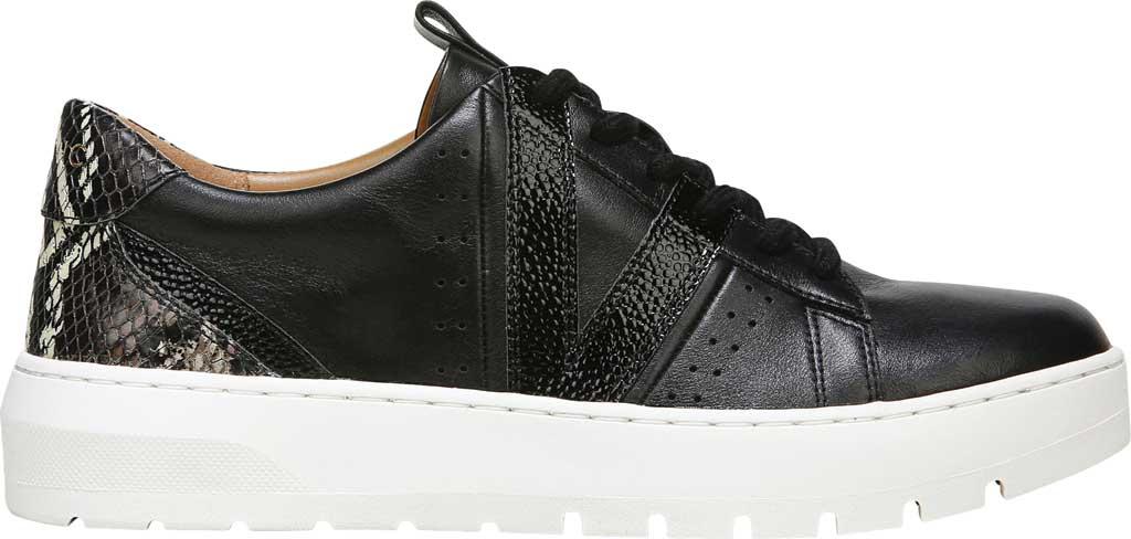Women's Vionic Simasa Sneaker, Black Stingray Snake Print Leather, large, image 2