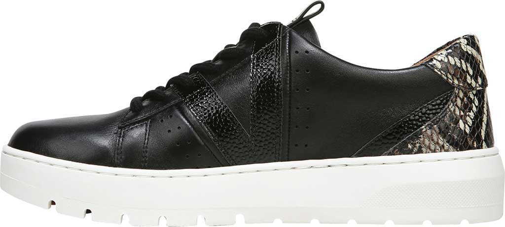 Women's Vionic Simasa Sneaker, Black Stingray Snake Print Leather, large, image 3