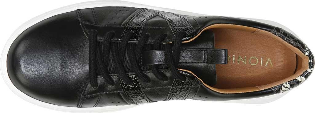 Women's Vionic Simasa Sneaker, Black Stingray Snake Print Leather, large, image 4