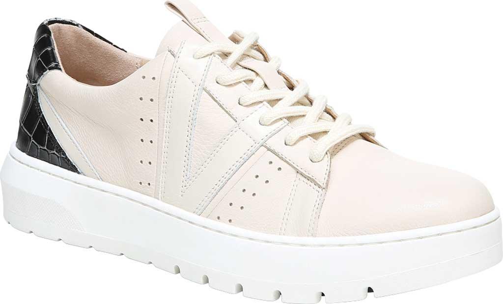 Women's Vionic Simasa Sneaker, Cream Croco Leather, large, image 1
