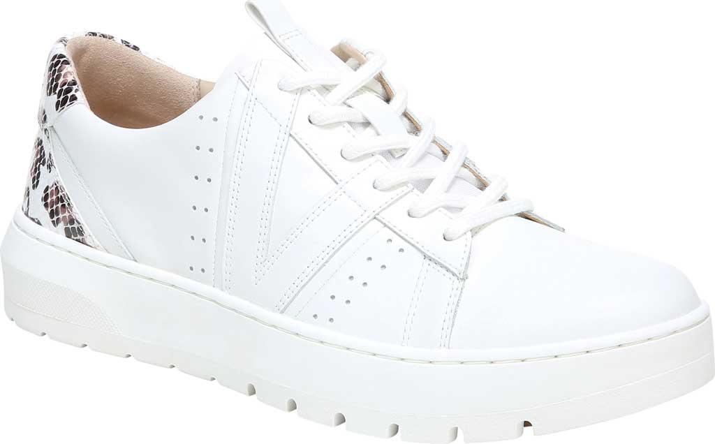 Women's Vionic Simasa Sneaker, White Leopard/Snake Print Leather, large, image 1