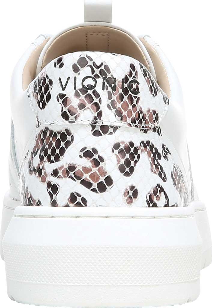 Women's Vionic Simasa Sneaker, White Leopard/Snake Print Leather, large, image 4
