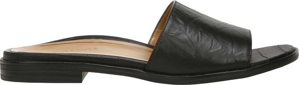 Women's Vionic Demi Slide, Black Crinkle Croco Leather, large, image 2