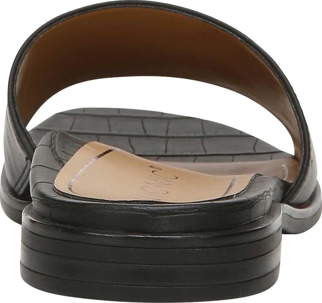 Women's Vionic Demi Slide, Black Crinkle Croco Leather, large, image 4