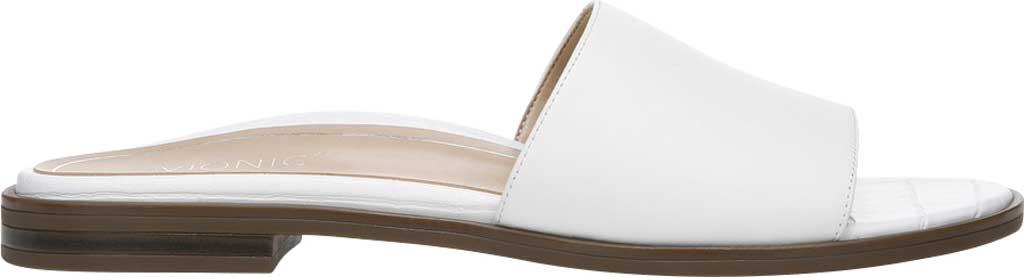 Women's Vionic Demi Slide, White Crinkle Croco Leather, large, image 2