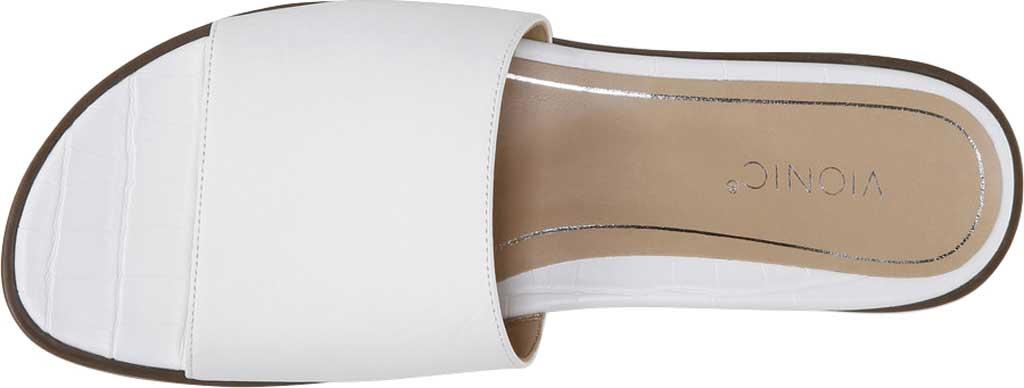 Women's Vionic Demi Slide, White Crinkle Croco Leather, large, image 5