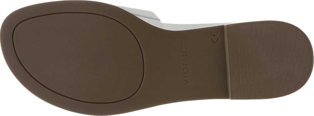 Women's Vionic Demi Slide, White Crinkle Croco Leather, large, image 6
