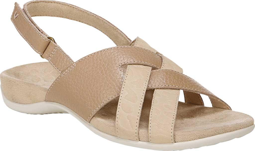 Women's Vionic Eira Strappy Sandal, Cream Tumbled Leather, large, image 1